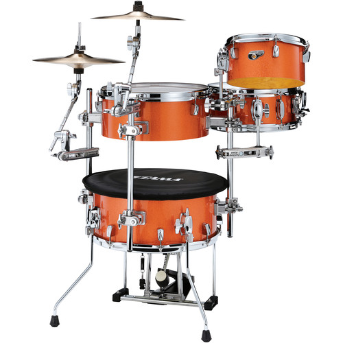 TAMA Cocktail-JAM 4-Piece Portable Drum Kit (Bright Orange Sparkle)