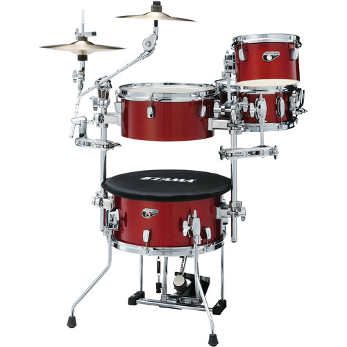 TAMA Cocktail-JAM Mini 4-Piece Portable Drum Kit (Candy Apple Mist)