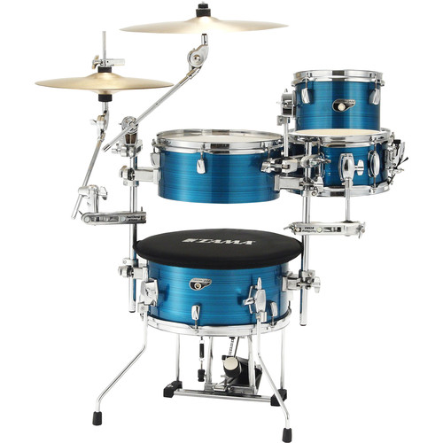 TAMA Cocktail-JAM Mini 4-Piece Portable Drum Kit (Hairline Blue)