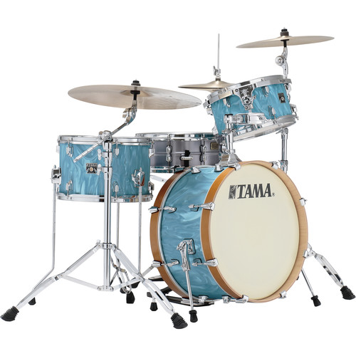 """TAMA Tama Starclassic Maple Vintage 3-Piece Shell Pack with 22"""" Bass Drum /Turquoise Satin Haze"""