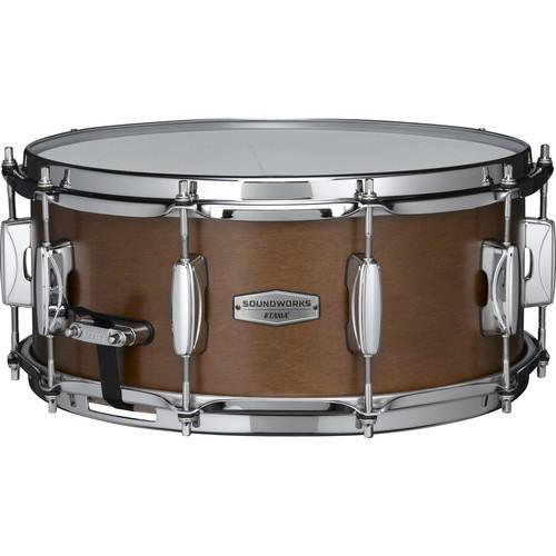 "TAMA Soundworks DKP146 Kapur Snare Drum (6 x 14"", Matte-Brown Kapur)"