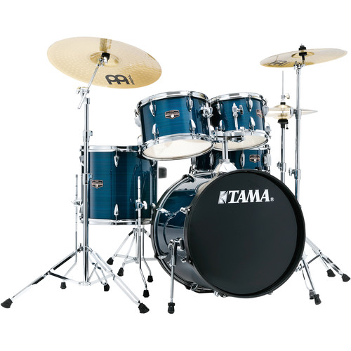 """TAMA Imperialstar 5-Piece Complete Kit (20""""BD) with Meinl HCS Cymbals (Hairline Blue)"""
