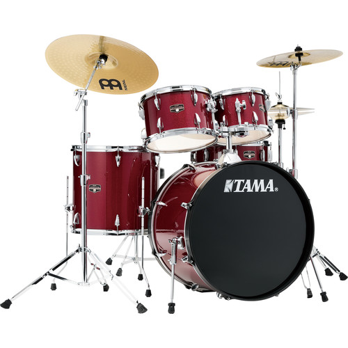 """TAMA Imperialstar 5-Piece Complete Kit (22""""BD) with Meinl HCS Cymbals (Candy Apple Mist)"""