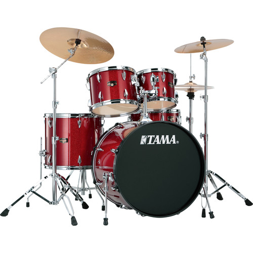 "TAMA IP52KCCPM Imperialstar 5-Piece Drum Set with Cymbals (22"" Bass Drum, Candy Apple Mist)"