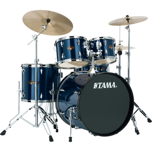 "TAMA IP52KCMNB Imperialstar 5-Piece Drum Set with Cymbals (22"" Bass Drum, Midnight Blue)"