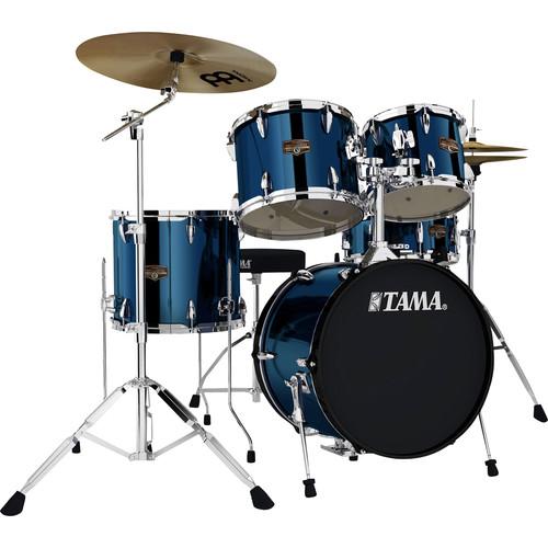 "TAMA IP58CMNB Imperialstar 5-Piece Drum Set with Cymbals (18"" Bass Drum, Midnight Blue)"