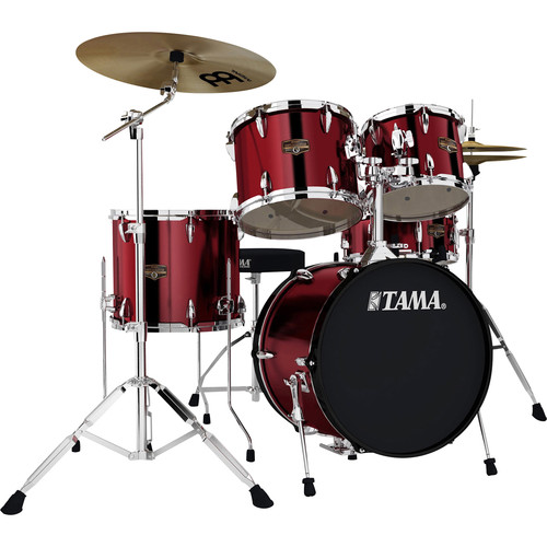 "TAMA IP58CVTR Imperialstar 5-Piece Drum Set with Cymbals (18"" Bass Drum, Vintage Red)"