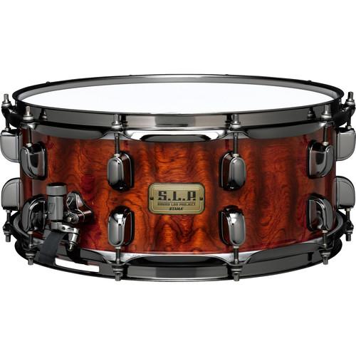 "TAMA S.L.P. Series LGB146NQB G-Bubinga Snare Drum (6 x 14"", Natural Quilted Bubinga)"