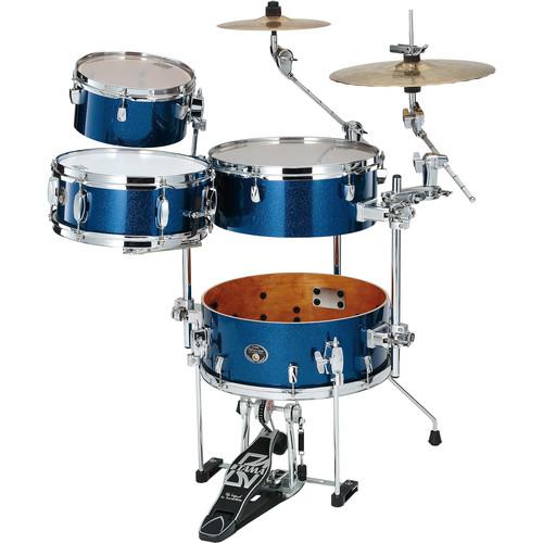 TAMA VD46CBNISP Silverstar Cocktail-Jam 4-Piece Drum Kit (Indigo Sparkle)