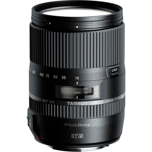 Tamron 16-300mm f/3.5-6.3 Di II VC PZD MACRO Lens and Filter Kit for Canon EF