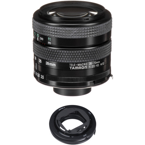 Tamron 28-70mm f/3.5-4.5 Adaptall Lens with Canon FD Adapter Kit