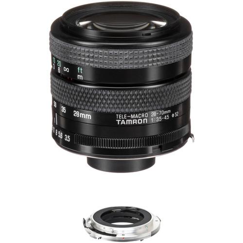 Tamron 28-70mm f/3.5-4.5 Adaptall Lens with Olympus OM Adaptall Mount Kit