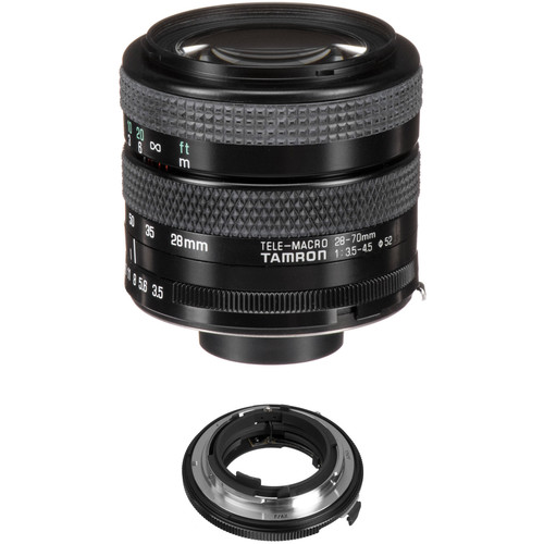Tamron 28-70mm f/3.5-4.5 Adaptall Lens with Fujica AX Adapter Kit