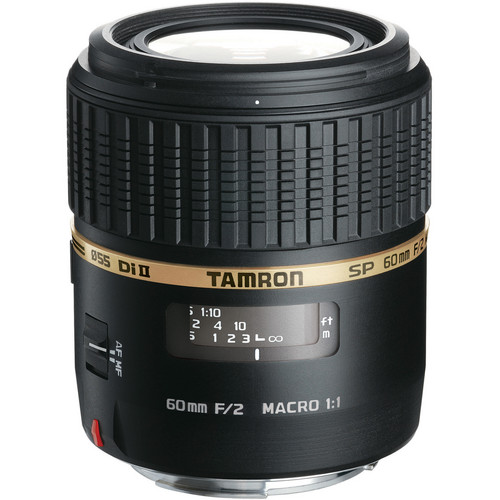 Tamron SP 60mm f/2 Di II 1:1 Macro Lens for Nikon F
