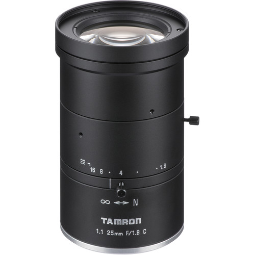 Tamron 12MP 25mm Fixed Focal Lens with f/1.8 Aperture (C-Mount)
