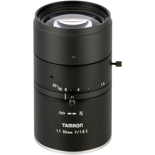 Tamron 12MP 50mm Fixed Focal Lens with f/1.8 Aperture (C-Mount)