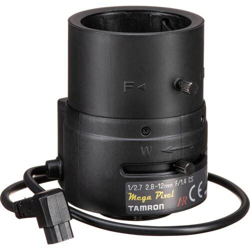 "Tamron M13VG2812IR 1/2.7"" CS-Mount 2.8-12mm F/1.4 Aspherical MP Varifocal Lens"