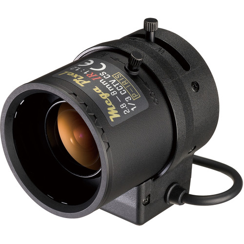 "Tamron M13VP288IR 1/3"" 2.8-8mm CS-Mount f/1.2 Varifocal Lens"
