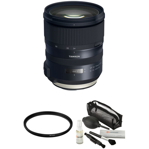 Tamron SP 24-70mm f/2.8 Di VC USD G2 Lens for Canon EF with Filter and Cleaning Kit
