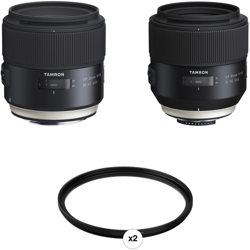 Tamron SP 35mm f/1.8 and 85mm f/1.8 Lens Kit for Nikon F