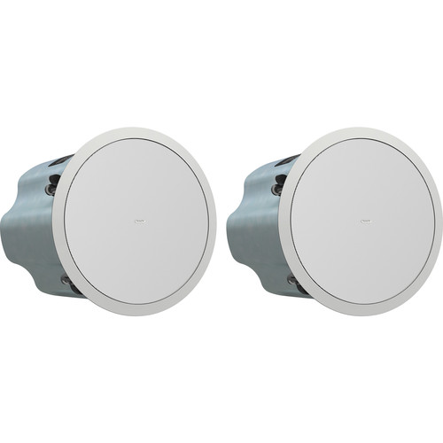 "Tannoy 8"" Full-Range Ceiling Loudspeaker with Dual Concentric Driver and Q-Centric Waveguide (Blind Mount, Pair)"