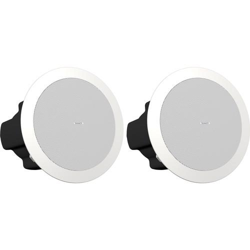 """Tannoy CVS 4 EN54-Certified Coaxial In-Ceiling Loudspeaker (Pair, 4"""", White)"""
