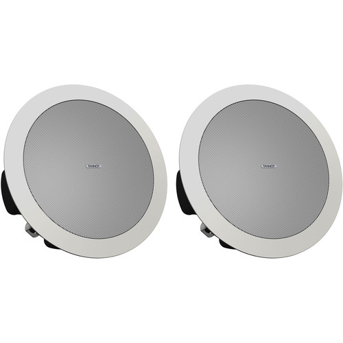 "Tannoy CVS 4 MICRO Coaxial In-Ceiling Loudspeaker with Shallow Back Can (Pair, 4"", White)"