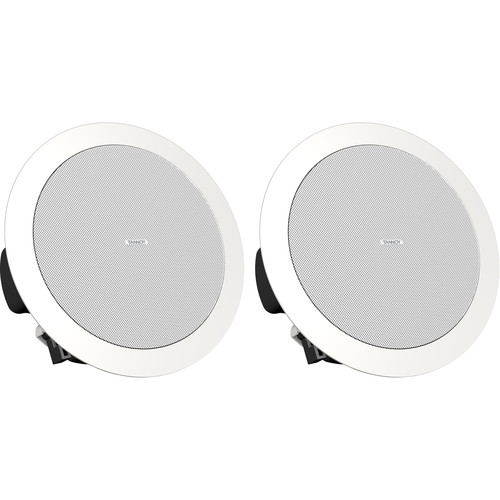 "Tannoy CVS 4 MICRO EN54-Certified Coaxial In-Ceiling Loudspeaker with Shallow Backcan (Pair, 4"", White)"