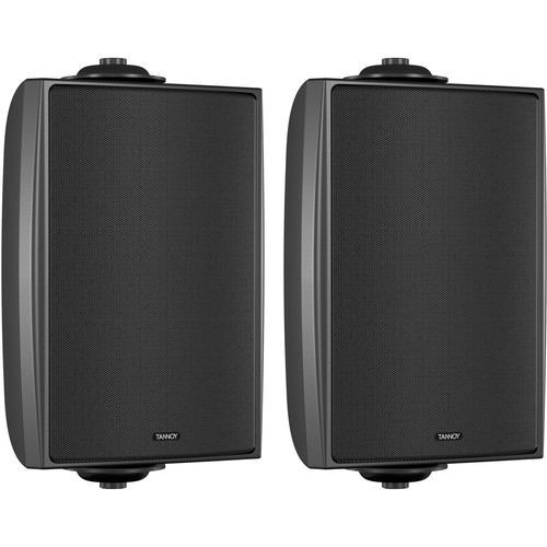 "Tannoy 4"" Coaxial Surface-Mount Loudspeaker with Transformer (EN54-Certified, Black, Pair)"