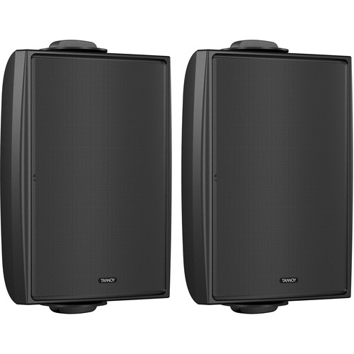 """Tannoy 4"""" Coaxial Surface-Mount Loudspeaker with Transformer (Black, Pair)"""