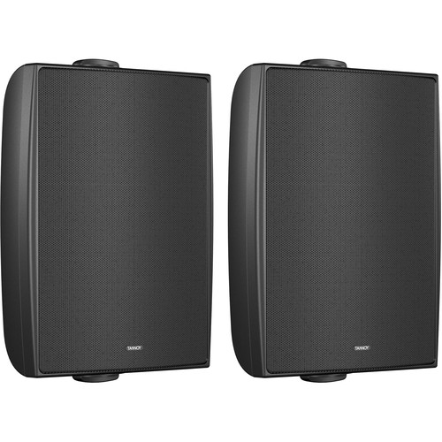 """Tannoy 6"""" Coaxial Surface-Mount Loudspeaker with Transformer (Black, Pair)"""