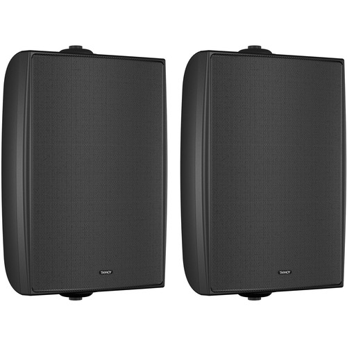 "Tannoy 6"" Coaxial Surface-Mount Loudspeaker with Transformer (EN54-Certified, Black, Pair)"