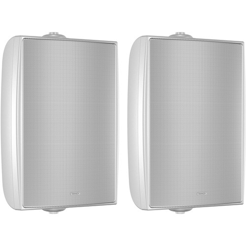 """Tannoy 6"""" Coaxial Surface-Mount Loudspeaker with Transformer (EN54-Certified, White, Pair)"""