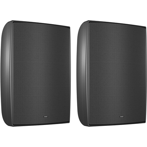 """Tannoy 8"""" Coaxial Surface-Mount Loudspeaker with Transformer (Black, Pair)"""