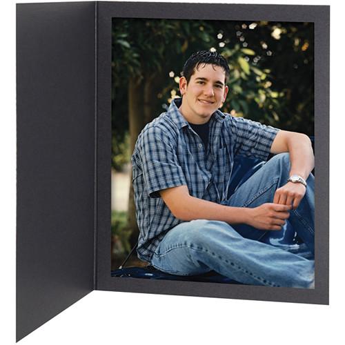 """Tap Senior Slip Photo Folder (5 x 7"""", Ebony, 25-Pack)"""