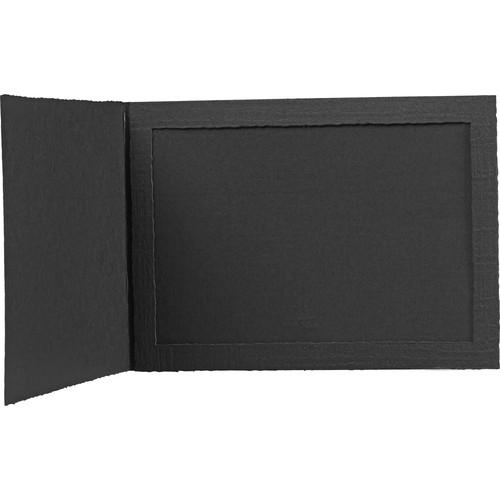"""Tap Senior Slip Photo Folder (7 x 5"""", Ebony, 25-Pack)"""