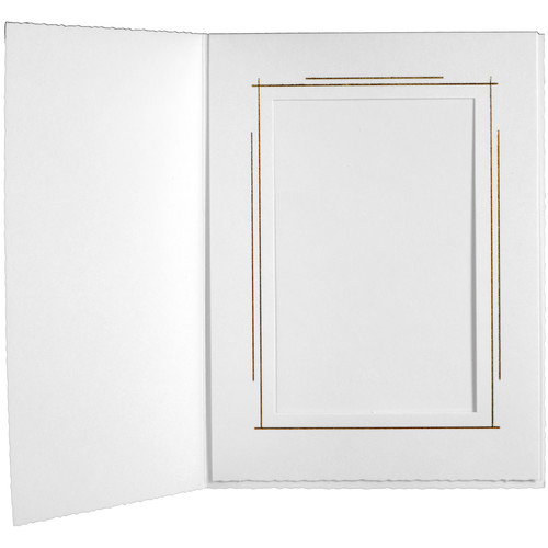 "Tap Whitehouse Photo Folder (5 x 7"", White, 25-Pack)"