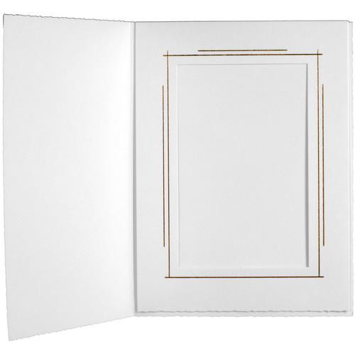 "Tap Whitehouse Photo Folder (6 x 8"", White, 25-Pack)"