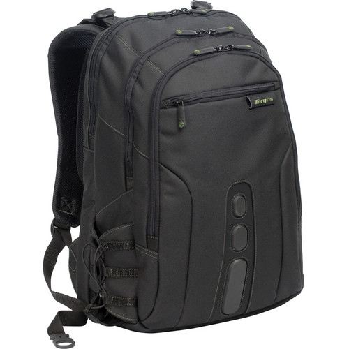 "Targus 17"" Spruce EcoSmart Backpack (Black / Green Accents)"