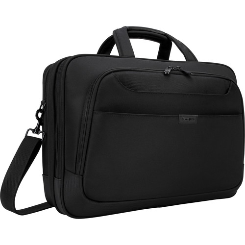 """Targus 17"""" Blacktop Deluxe Checkpoint-Friendly Briefcase with DOME Protection (Black)"""