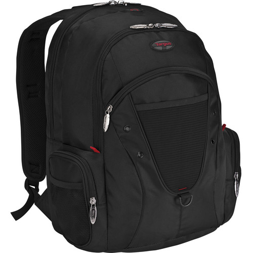 "Targus 16"" Expedition Backpack (Black with Red Accents)"
