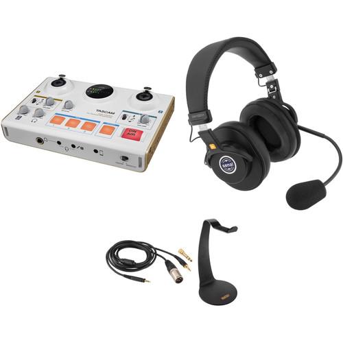 Tascam MiNiSTUDIO Creator US-42 Podcast Studio with One Senal SMH-1020CH Headset Kit
