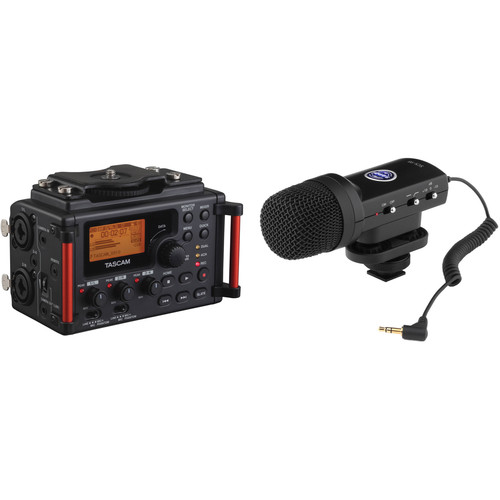 Tascam DR60D MKII 4-Track Solid-State Recorder & Senal SCS-98 Stereo Mic Kit