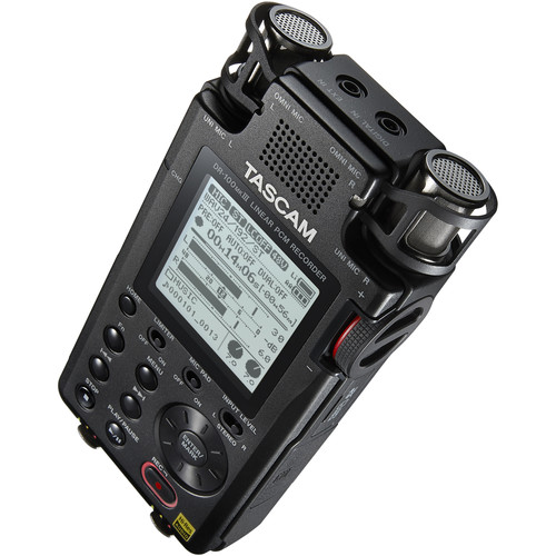 Tascam DR-100mkIII 6-Input / 2-Track Portable Audio Recorder with Onboard 4-Mic Array