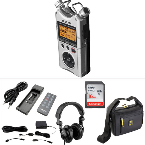 Tascam DR-40 Portable Recorder Value Pack (Silver)