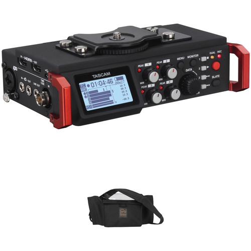 Tascam DR-701D Kit with 4-Channel / 6-Track Multitrack Field Recorder & Porta Brace AR-DR701D