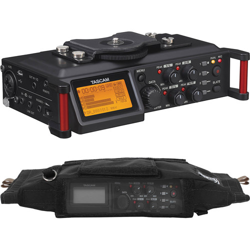 Tascam DR-70D 4-Channel Audio Recorder With Case Kit