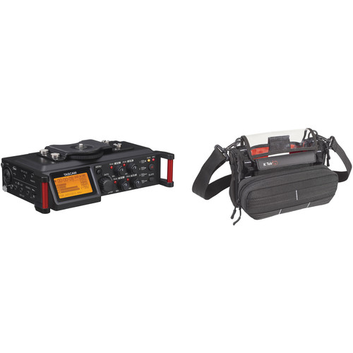 Tascam DR-70D 4-Channel Audio Recorder and Stingray MixPro Audio Bag Kit