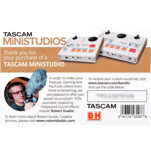 Tascam MiNiSTUDIO Custom PON Soundset