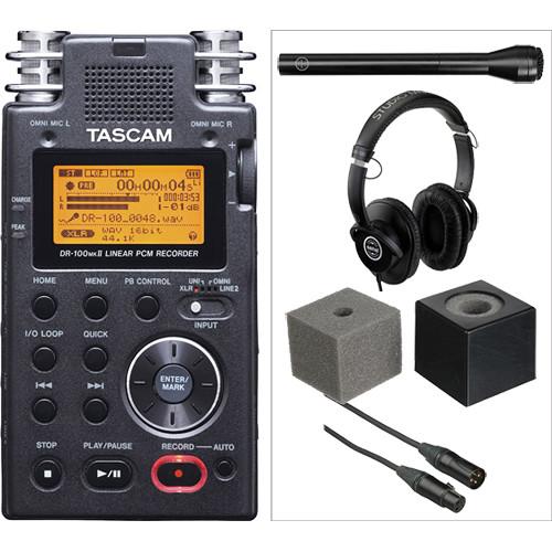 Tascam DR-100mkII Handheld Interviewer Kit